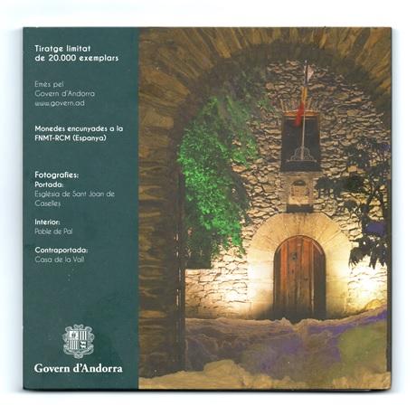 (EUR24.CofBU&FDC.2018.Cof-BU.16191) Coffret BU Andorre 2018 Verso