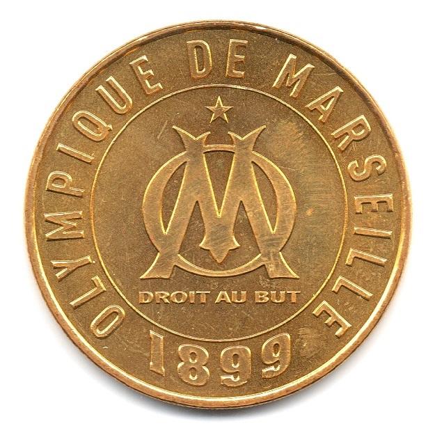 (FMED.Méd.souv.2016.CuAlNi1.000000001) Memory token - Olympique de Marseille Obverse (zoom)