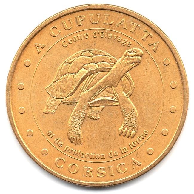 (FMED.Méd.tourist.2004.CuAlNi-1.sup.000000001) Tourism token - A Cupulatta Obverse (zoom)