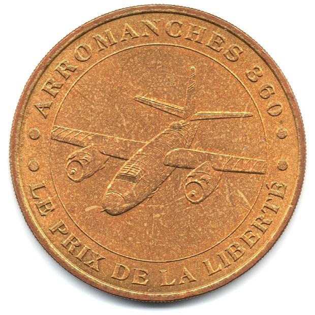 (FMED.Méd.tourist.2004.CuAlNi1.1.sup.000000001) Tourism token - Arromanches Obverse (zoom)