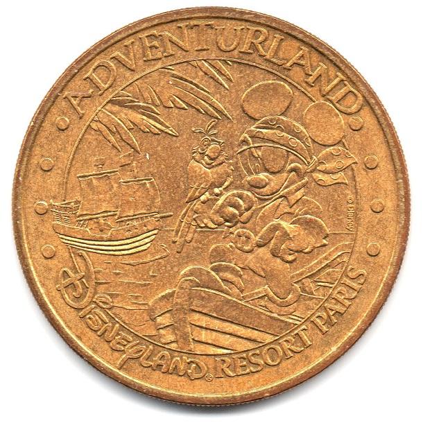(FMED.Méd.tourist.2004.CuAlNi1.sup.000000001) Tourism token - Adventurland Obverse (zoom)