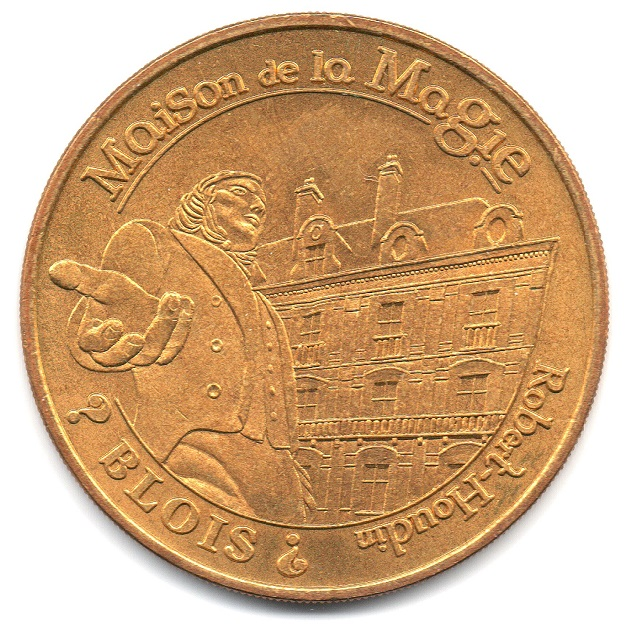 (FMED.Méd.tourist.2004.CuAlNi14.-1.sup.000000001) Tourism token - House of Magic Obverse (zoom)
