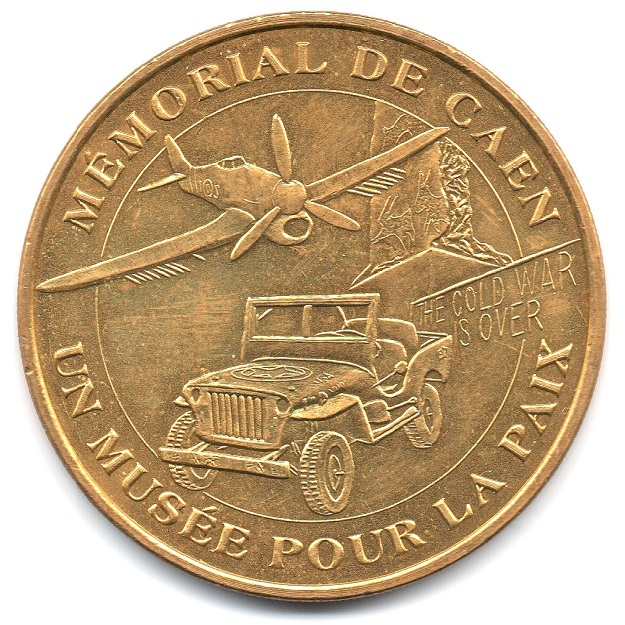 (FMED.Méd.tourist.2004.CuAlNi14.1.sup.000000001) Tourism token - Memorial of Caen Obverse (zoom)
