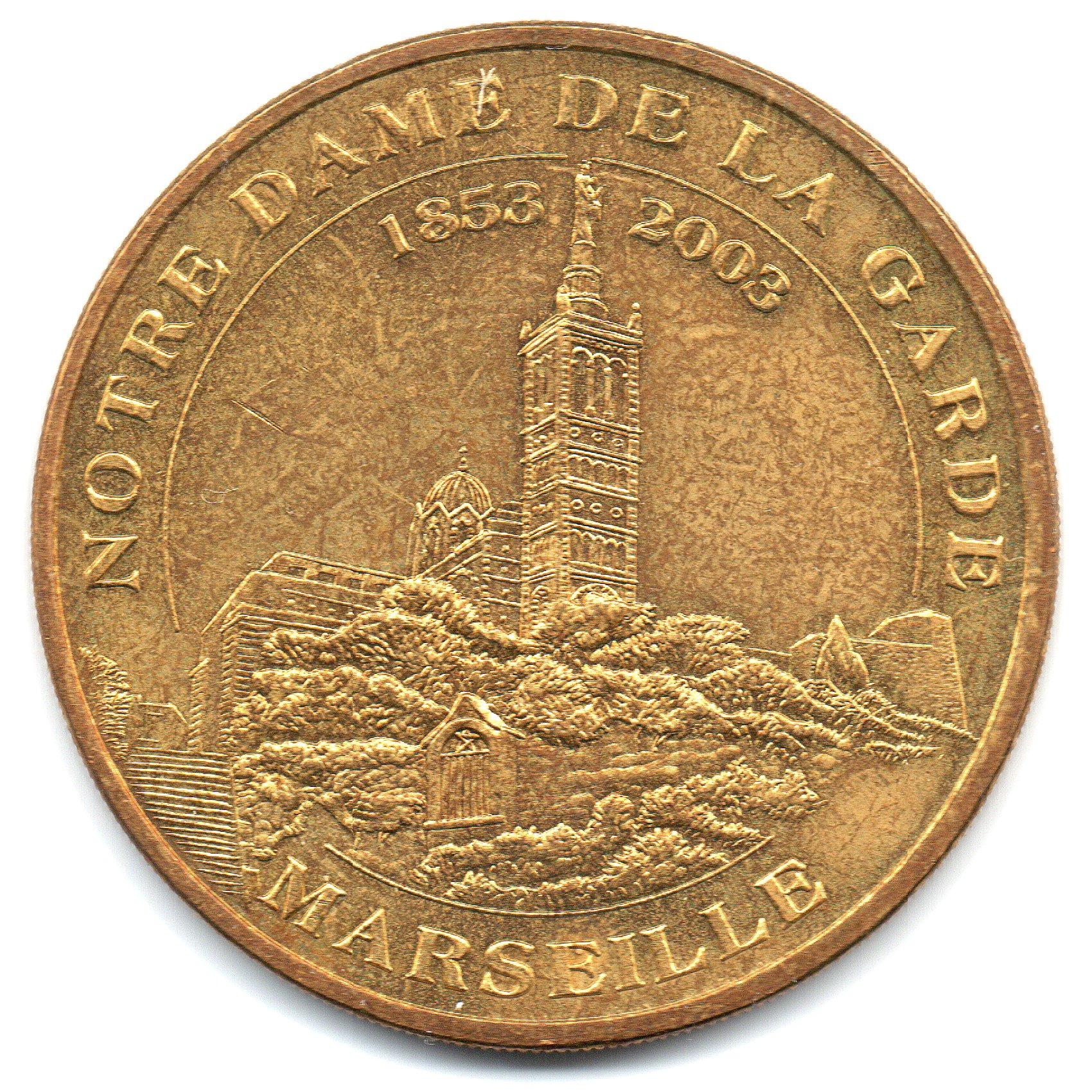 (FMED.Méd.tourist.2004.CuAlNi15.1.sup.000000001) Basilica Our lady De La Garde Obverse (zoom)