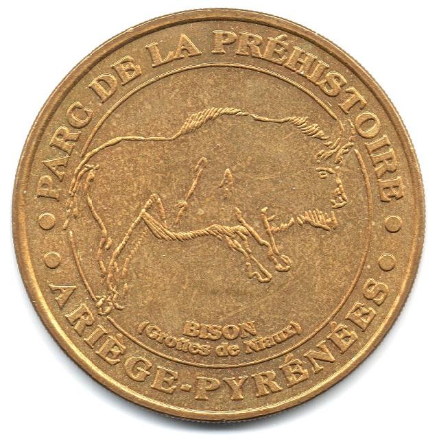 (FMED.Méd.tourist.2004.CuAlNi16.-1.1.sup.000000001) Tourism token - Prehistory Park Obverse (zoom)