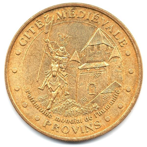 (FMED.Méd.tourist.2004.CuAlNi16.sup.000000001) Tourism token - Provins Obverse (zoom)