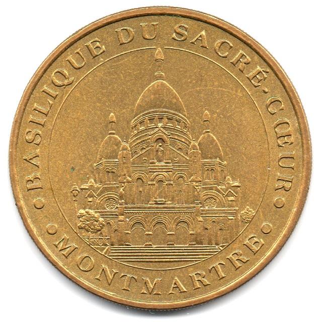(FMED.Méd.tourist.2004.CuAlNi2.sup.000000001) Tourism token - Sacré-Coeur Basilica Obverse (zoom)