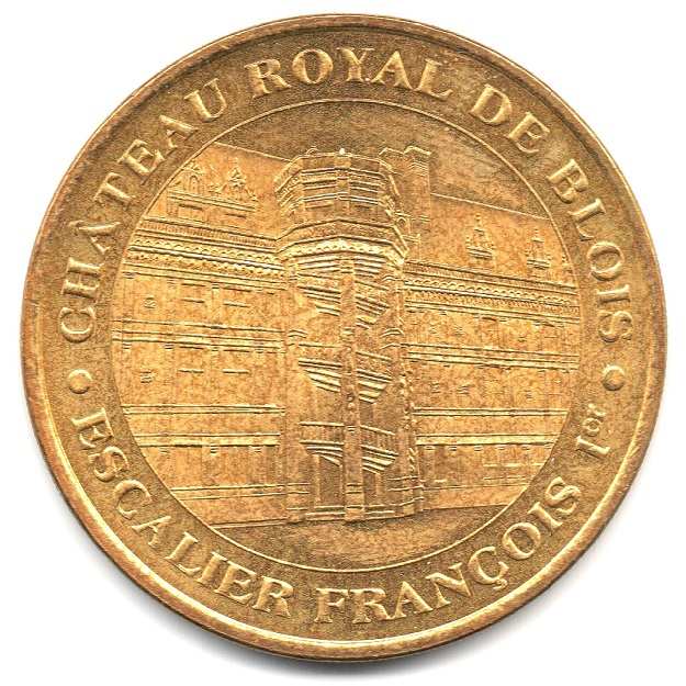 (FMED.Méd.tourist.2004.CuAlNi3.-1.1.sup.000000001) Tourism token - Royal castle of Blois Obverse (zoom)