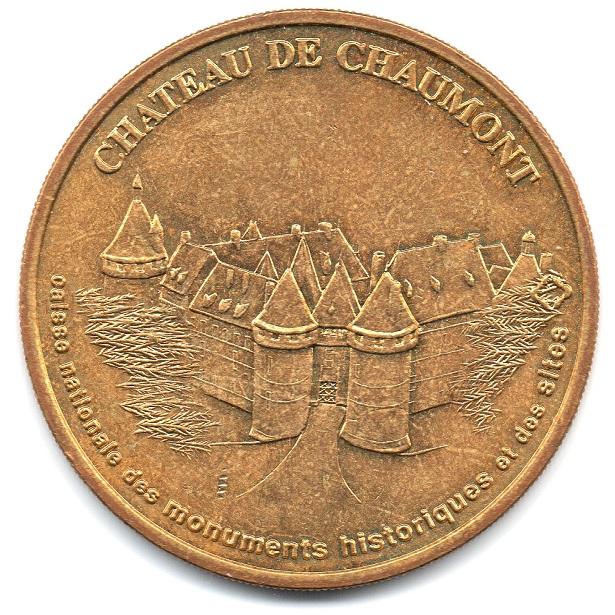 (FMED.Méd.tourist.2004.CuAlNi3.-1.sup.000000001) Tourism token - Chaumont Castle Obverse (zoom)