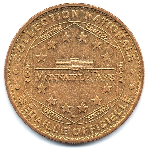 (FMED.Méd.tourist.2004.CuAlNi3.-1.sup.000000001) Tourism token - Chaumont Castle Reverse (zoom)
