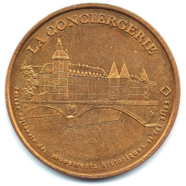 (FMED.Méd.tourist.2004.CuAlNi3.sup.000000001) Tourism token - Conciergerie Obverse (zoom)