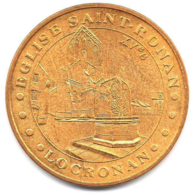 (FMED.Méd.tourist.2004.CuAlNi5.sup.000000001) Tourism token - Saint Ronan Church Obverse (zoom)