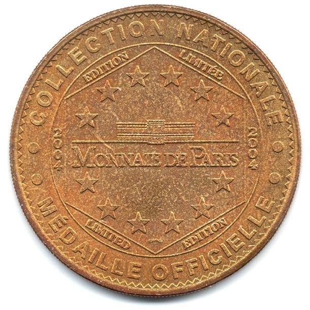 (FMED.Méd.tourist.2004.CuAlNi6.1.sup.000000001) Tourism token - Frontierland Reverse (zoom)