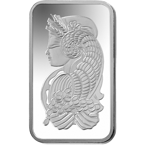 (LIN.PAMP.10.ag.AG00RI005S101) Silver bar 10 grams PAMP - Fortuna Back (zoom)