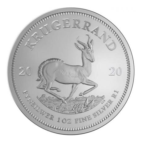 (W002.Kr.2020.1.ag.bullco.1) Krugerrand Afrique du Sud 2020 1 once argent - Paul Kruger Revers