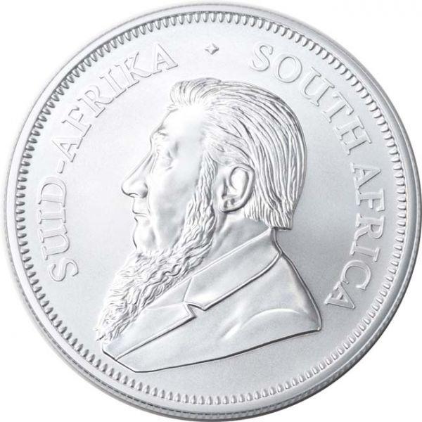 (W002.Kr.2020.1.ag.bullco.1) Krugerrand South Africa 2020 1 oz silver - Paul Kruger Obverse (zoom)