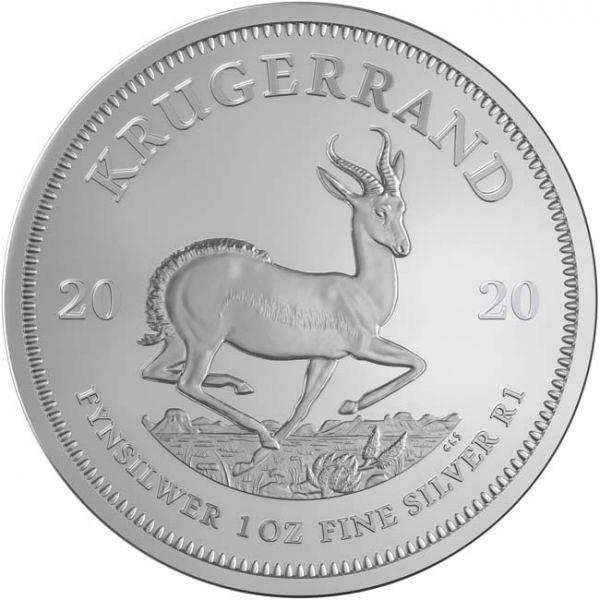 (W002.Kr.2020.1.ag.bullco.1) Krugerrand South Africa 2020 1 oz silver - Paul Kruger Reverse (zoom)