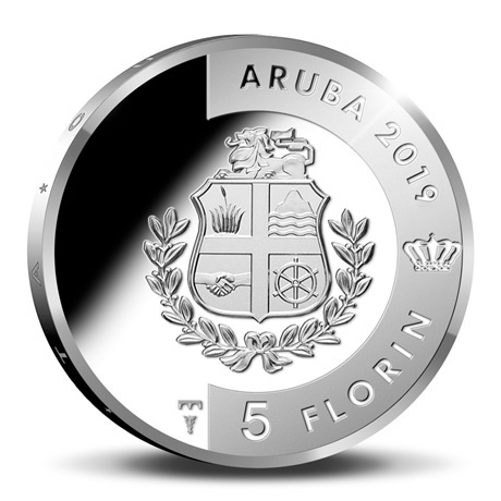 (W016.500.2019.BU&BE.COM1) 5 Florin Tortue 2019 - Argent BE Avers