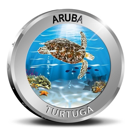 (W016.500.2019.BU&BE.COM1) 5 Florin Tortue 2019 - Argent BE Revers