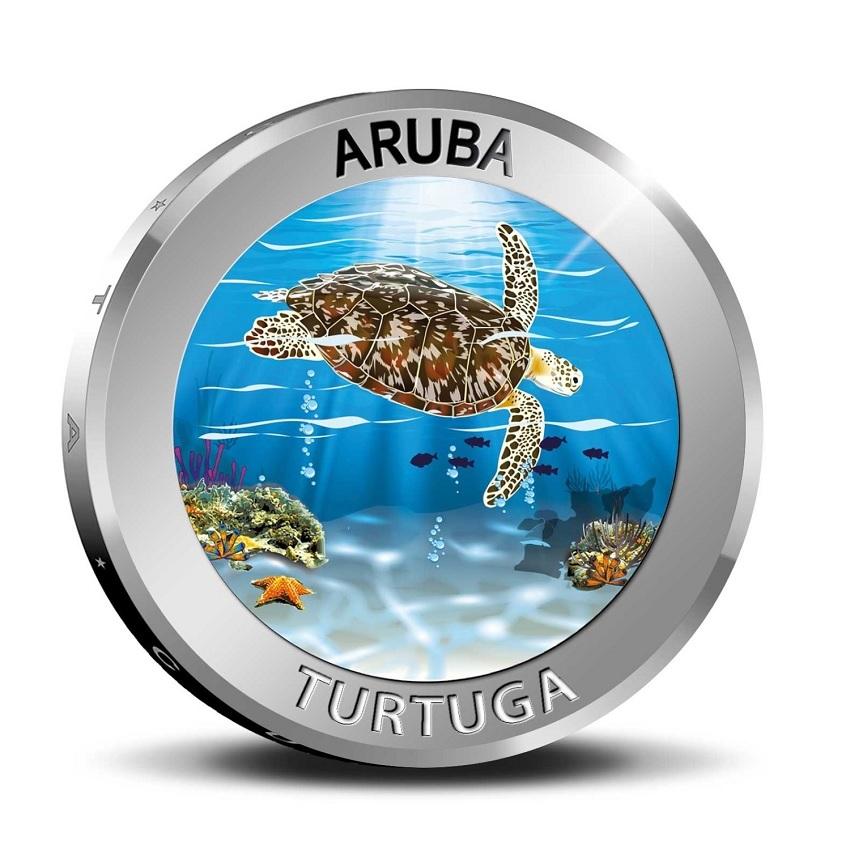 (W016.500.2019.BU&BE.COM1) 5 Florin Turtle 2019 - Proof silver Reverse (zoom)