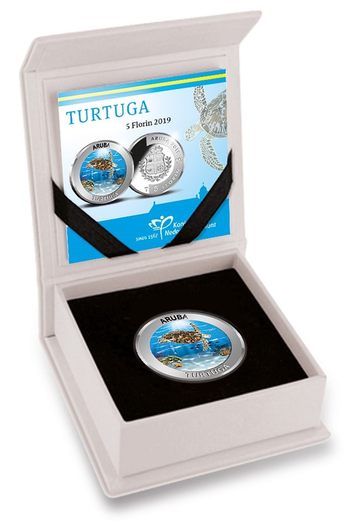 (W016.500.2019.BU&BE.COM1) 5 Florin Turtle 2019 - Proof silver (case) (zoom)