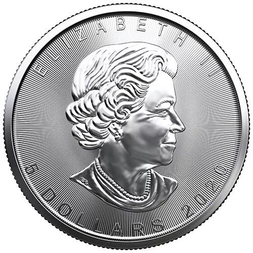 (W037.500.2020.1.ag.bullco.1) 5 Dollars Canada 2020 1 oz silver - Maple leaf Obverse (zoom)