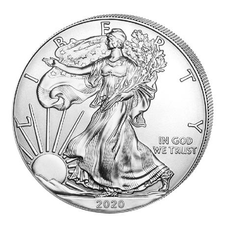 (W071.100.2020.1.ag.bullco.1) 1 Dollar Etats-Unis 2020 1 once argent - Aigle américain Avers