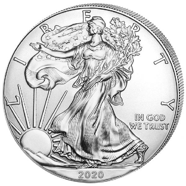 (W071.100.2020.1.ag.bullco.1) 1 dollar USA 2020 1 oz silver - American eagle Obverse (zoom)