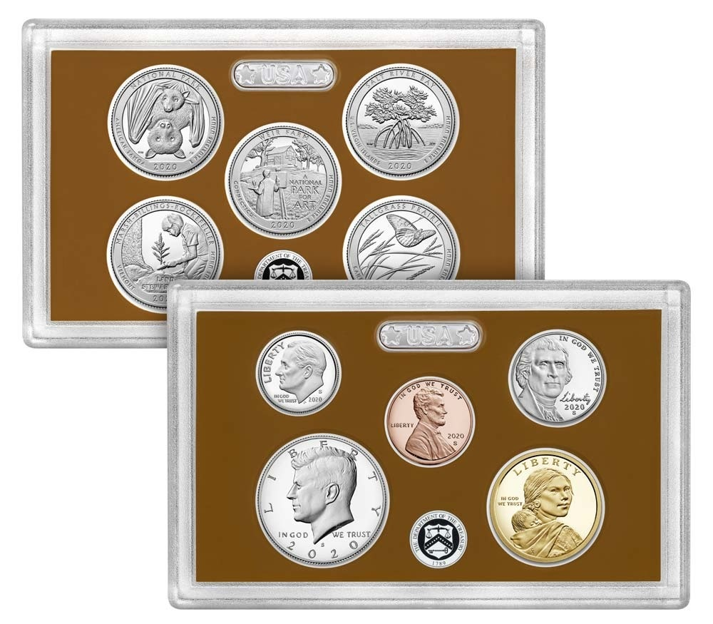 (W071.CofBE.2020_S) Proof coin set USA 2020 S (coins) (zoom)