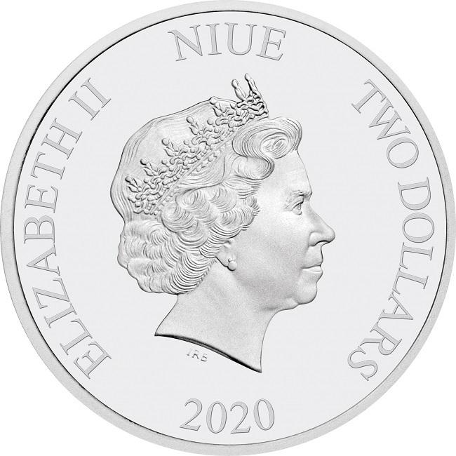 (W160.200.2020.1.ag.bullco.30-00887) 2 dollars Niue 2020 1 oz Proof silver - Rapunzel Obverse (zoom)