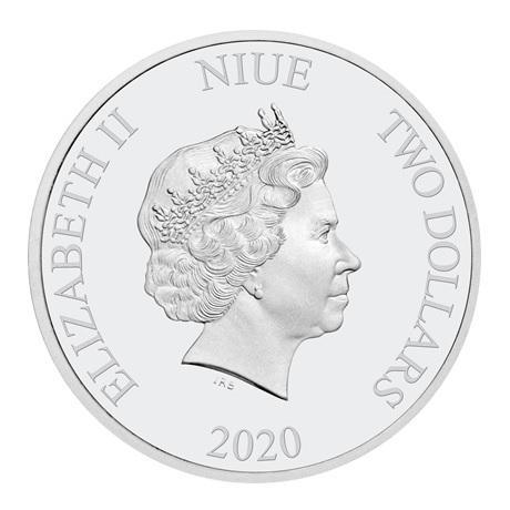 (W160.200.2020.1.ag.bullco.30-00891) 2 dollars Niue 2020 1 once argent BE - Poudlard Express Avers
