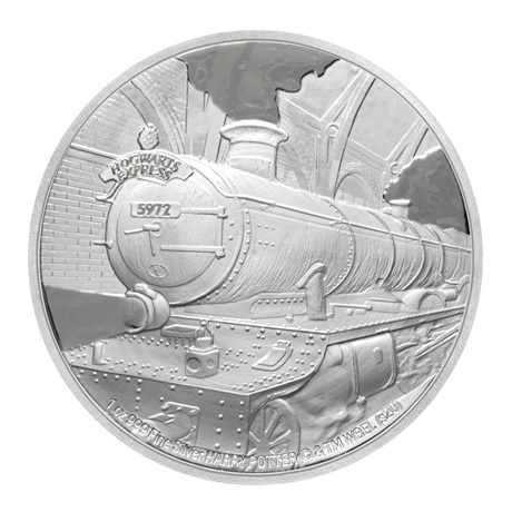 (W160.200.2020.1.ag.bullco.30-00891) 2 dollars Niue 2020 1 once argent BE - Poudlard Express Revers