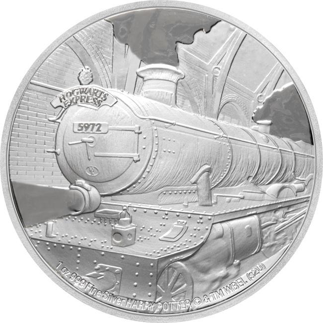 (W160.200.2020.1.ag.bullco.30-00891) 2 dollars Niue 2020 1 oz Proof silver - Hogwarts Express Reverse (zoom)
