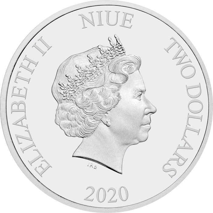 (W160.200.2020.1.ag.bullco.30-00915) 2 dollars Niue 2020 1 oz Proof silver - Good fortune Obverse (zoom)
