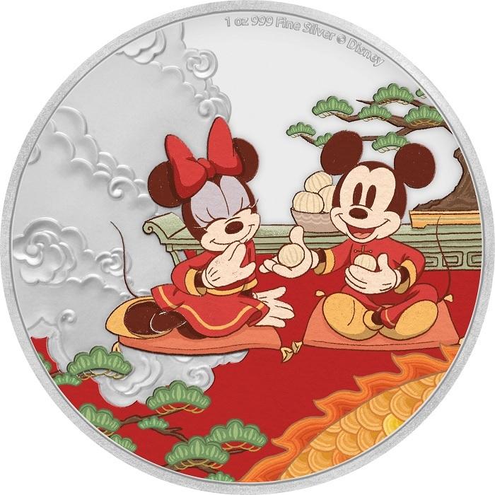 (W160.200.2020.1.ag.bullco.30-00915) 2 dollars Niue 2020 1 oz Proof silver - Good fortune Reverse (zoom)