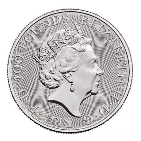 (W185.10000.2020.1.pt.bullco.1) 100 Pounds Royaume-Uni 2020 1 once platine - Britannia Avers