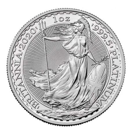 (W185.10000.2020.1.pt.bullco.1) 100 Pounds Royaume-Uni 2020 1 once platine - Britannia Revers