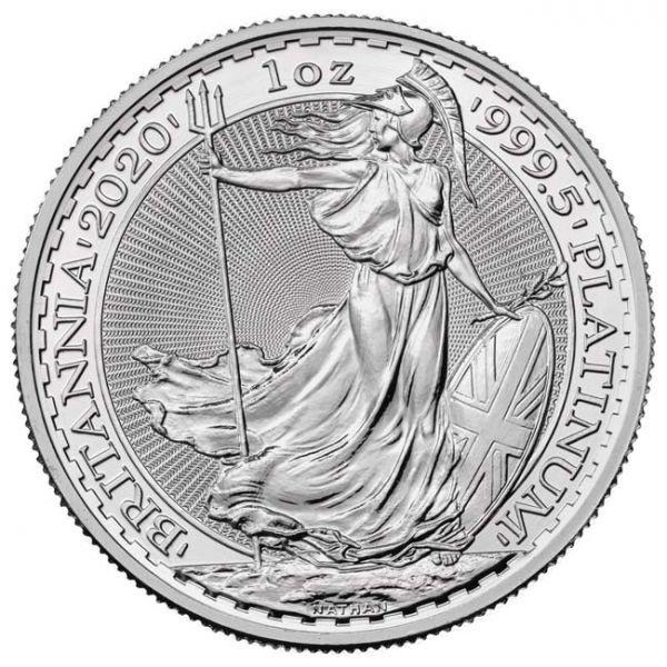 (W185.10000.2020.1.pt.bullco.1) 100 Pounds United Kingdom 2020 1 oz platinum - Britannia Reverse (zoom)