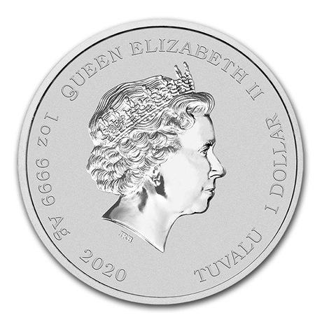 (W228.1.100.2020.1.ag.bullco.1) 1 Dollar Tuvalu 2020 1 once argent BU - Krusty le clown Avers