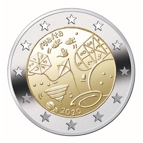 2 euro commémorative Malte 2020 - Jeux