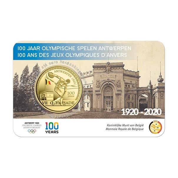 (EUR02.ComBU&BE.2020.250.BU.COM1.1) 2.5 euro Belgium 2020 BU - Antwerp Olympic Games (coloured) Front (zoom)