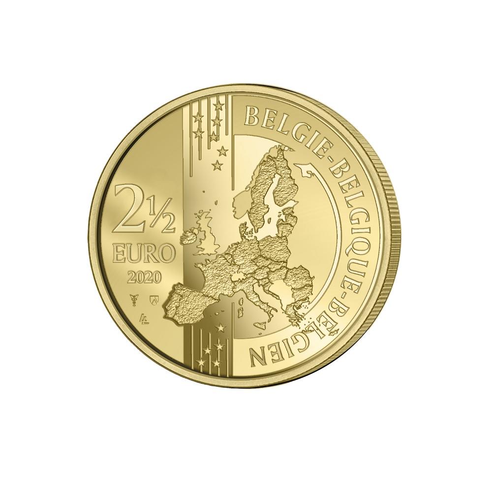 (EUR02.ComBU&BE.2020.250.BU.COM1.1) 2.5 euro Belgium 2020 BU - Antwerp (coloured) Obverse (zoom)