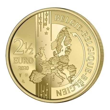 (EUR02.ComBU&BE.2020.250.BU.COM1.1) 2,5 euro Belgique 2020 BU - Jeux Olympiques Anvers (colorisée) Avers