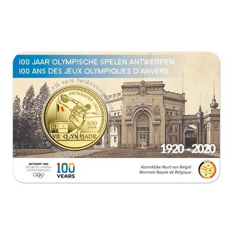 (EUR02.ComBU&BE.2020.250.BU.COM1.1) 2,5 euro Belgique 2020 BU - Jeux Olympiques Anvers (colorisée) Recto
