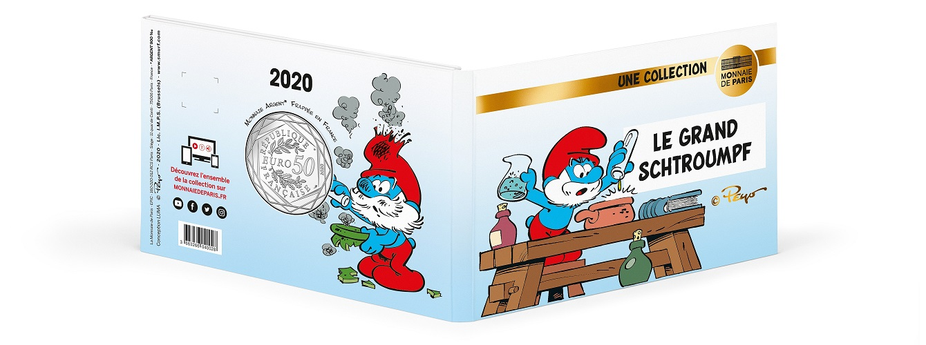 (EUR07.5000.2020.10041345670005) Papa Smurf (blister cover) (zoom)