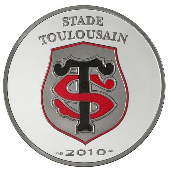 (EUR07.ComBU&BE.2010.10041263510000) 10 euro France 2010 Proof Ag - Stade Toulousain Obverse (zoom)