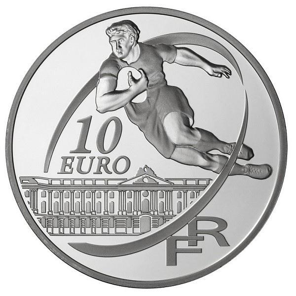 (EUR07.ComBU&BE.2010.10041263510000) 10 euro France 2010 Proof Ag - Stade Toulousain Reverse (zoom)