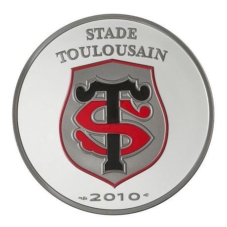 (EUR07.ComBU&BE.2010.10041263510000) 10 euro France 2010 argent BE - Stade Toulousain Avers
