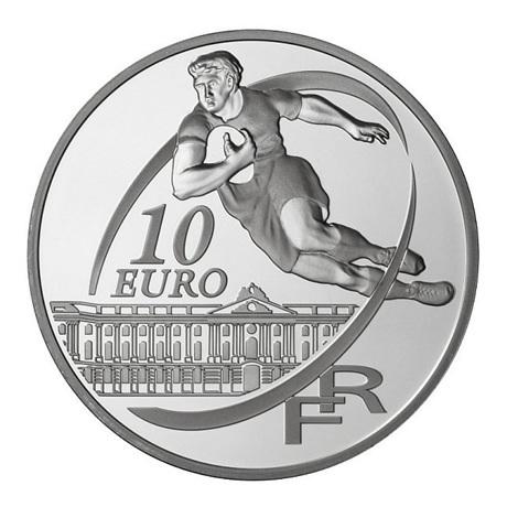 (EUR07.ComBU&BE.2010.10041263510000) 10 euro France 2010 argent BE - Stade Toulousain Revers