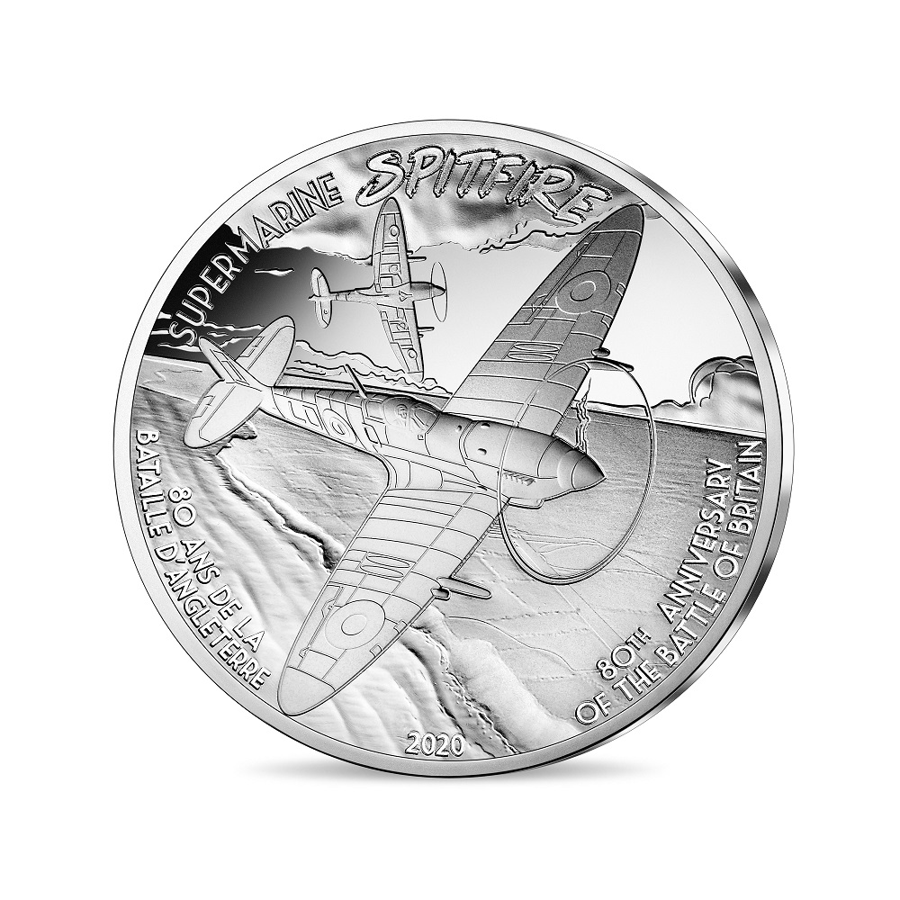 (EUR07.ComBU&BE.2020.1000.BE.10041324270000) 10 euro France 2020 Proof Ag - Spitfire Reverse (zoom)